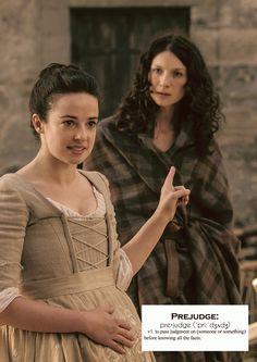 "(x) Jenny refers to Claire as Jamie's ""trollop"". Outlander Funny, Outlander Season 4, Outlander Casting, Outlander Tv Series, Outlander Novel, James Fraser Outlander, Sam Heughan Outlander, Claire Fraser, Jamie Fraser"