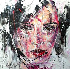 Lucile Callegari / T243 / Acrylique et fusain sur toile, 80x80cm, 2015.
