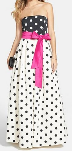 polka dot a-line gown http://rstyle.me/n/wnzmwpdpe