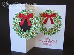Qbee's Quest: Wondrous Wreath Flip Card Tutorial - video tutorial in the post.