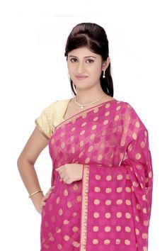 Pure Georgette Sari @ Rs.6,440.00  #Sari #Sarees #Fashiontra #WomensFashion