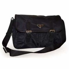 2325487d4604 Prada Messenger Shoulder Bag BT0171 Black (Nero) Prada Messenger Bag,  Pouches, Satchel