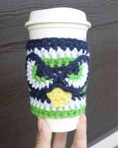 seahawks coffee cozy crochet - Google Search