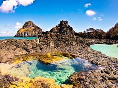 Fernando de Noronha is one of Brazil's hidden treasures. Cool Places To Visit, Places To Go, Brazil Travel, Wanderlust Travel, Strand, Trip Planning, South America, Beautiful Places, National Parks