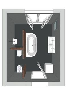 Regardless of the type of bathroom layout design you choose, it is always important to stick with the basic necessities. The amount of space you want Bathroom Bath, Bathroom Renos, Bathroom Interior, Master Bathroom, Bath Room, Master Bath Layout, Bathroom Modern, Bathroom Toilets, Simple Bathroom
