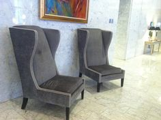 Wing Back Chairs: Hotel Nikko, San Francisco