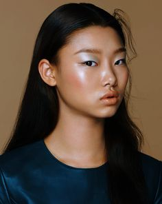 Subtle color and shimmer. Bae Yoon Young photographed by Kang Kyun Suk for Vogue Girl Korea