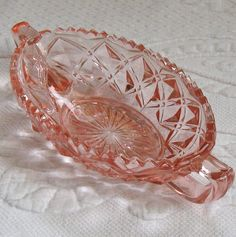 vintage pink depression glass dish (for jewelry)