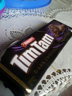 dark chocolate tim tam #timtam #arnott's #chocolate #foodlovers #rum