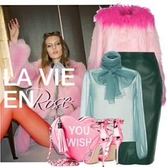 LA VIE EN ROSE by tiziana-melera on Polyvore featuring Rochas, River Island, Sugarbaby, Dolce&Gabbana, Pink, trend, contestentry and Fall2016