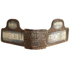 19th Century Lower Manhattan Corner Street Sign