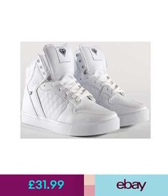 b7580ad6bf5867 Mens Designer Hi Tops Trainers New Boys High Ankle cash money white Pumps  Shoes