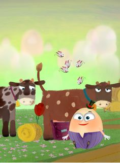 Feed the cows. #Humpty #Dumpty #PonyApps #Fairytale   https://play.google.com/store/apps/details?id=com.ponyapps.humptybook