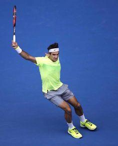 Roger Federer backhand Australian Open 2015 #Federer #tennis
