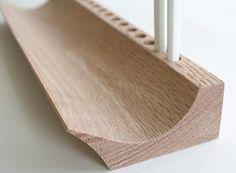 wood pen tray: