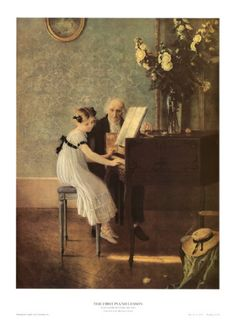 The First Piano Lesson Art Print