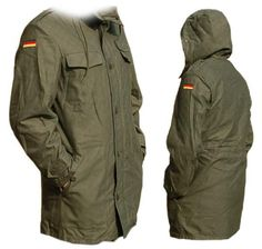 Authentic German Army olive Parka military coat by ChevaldeGuerre, €45.00