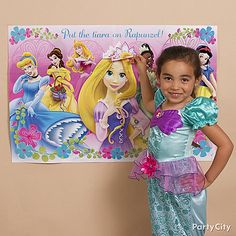 Your princess will love Pin-The-Tiara-On-Rapunzel!