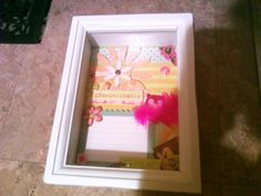 Shadow box I Made for a friends baby shower