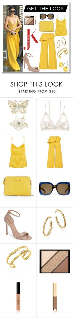 """""""Get The Look...Kendall Jenner"""" by onesweetthing ❤ liked on Polyvore featuring Monsoon, Hanky Panky, Topshop Unique, Rosie Assoulin, Karen Millen, Gucci, Yves Saint Laurent, Ippolita, Gurhan and Elizabeth Arden"""