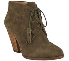 Sole Society Suede Lace-up Ankle Boots - Tallie