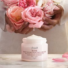 Fresh Rose Deep Hydration Face Cream is targeted for normal to dry skin. It is a cool, hydrating, gel cream formula that absorbs quickly into the skin and has time released hydro technology so skin stays moisturized and nourished all day/night. It has the most beautiful and calming true rose scent. Amazing product!