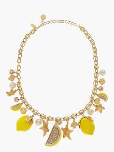 Kate Spade Lemon tart charm necklace♡♡♡