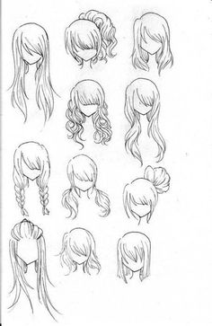 How to Draw Realistic Hair : fashion hair, for future sketches Anime Drawings Sketches, Pencil Art Drawings, Cool Art Drawings, Realistic Drawings, Cartoon Drawings, Celtic Dragon, Celtic Art, Doodle Fonts, Doodle Art