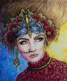 Finally done ☺ #magiskgryning #magicaldawn #hannakarlzon #coloring #coloringbook #adultcoloringbook #adultcoloring #pencils #fabercastell #polychromos #prismacolor #prismacolorpremier #drawing Inspired by bajan_art