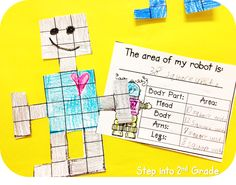 Step into 2nd Grade with Mrs. Lemons: Happy Monday! Area Robots