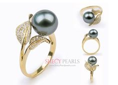 Tahitian Pearl Ring 20190509 - May 09 2019 at Black Pearl Earrings, Pearl Jewelry, Jewelry Rings, Pearl Bracelets, Pearl Rings, Pearl Necklaces, Drop Earrings, Jewellery, Tahitian Pearl Ring