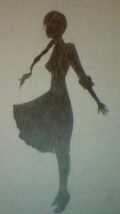 Another Silhouette drawn by me! Could this possibly be Katniss...? @Reiko Egbert Egbert Egbert Mellark