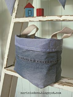 DIY Denim/ Jeans Tote.....Tas van je oude denim spijkerbroek/ jeans - Jalien Cozy Living #Recycle
