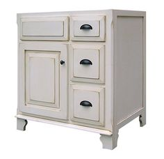 Buy the Sagehill Designs Glazed White Direct. Shop for the Sagehill Designs Glazed White Victorian Wood Vanity Cabinet Only and save. Traditional Bathroom, Bathroom Style, Cabinet, Shabby Chic Bathroom, Vanity Cabinet, White Distressed Cabinets, Bathroom Vanity Base, Bathroom Vanities Without Tops, Lowes Home Improvements