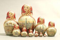 """10 Piece """"Vyatskaya Matryoshka"""" number 63033 - 383"""