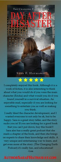 """I completely enjoyed this book,"" Day After Disaster by Sara F. Hathaway @sarahathaway19 #RRBC Read it! Review it! Today!"