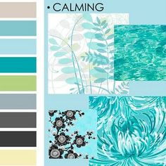 calming color palette, lovely... I want this over the whole house!