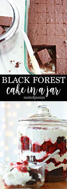 Black Forest Cake in a Jar