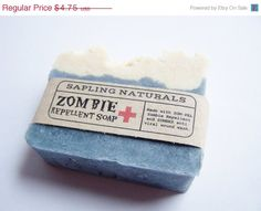 Zombie Repellent Soap - Indeed, a great gift for men, nerds, survivalists etc. When they're hard to buy for, I figure humorous gifts are fair game!