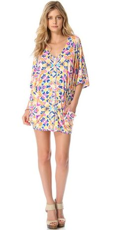 Mara Hoffman Button Down Poncho Dress