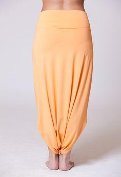 Orange Casual Long Harem Skirt Pants Classic Design par MichalRomem