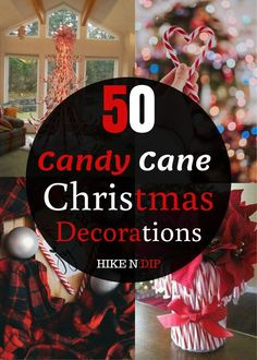 """50 Best Candy Cane Christmas Decorations which are the """"Sweetest things you've Ever Seen"""" - Hike n Dip Candy Cane Decorations, Christmas Window Decorations, Christmas Swags, Christmas Centerpieces, Diy Christmas Ornaments, Christmas Things To Do, Thanksgiving, A Table, Winter Parties"""