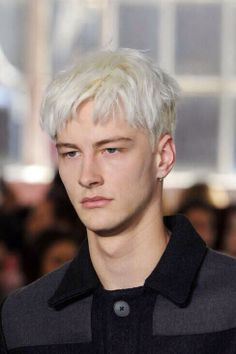 Benjamin Jarvis at Duckie Brown F/W 2014 Ivan Bubalo, Dyed Hair Men, Gilbert Beilschmidt, Tomorrow Is Another Day, Male Models, Mens Fashion, Boys, Dexter, Hair Ideas