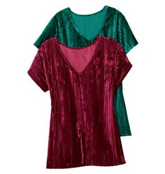 Crushed velvet top in holiday colors  www.youravon.com/conniejdunn