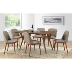Wholesale Interiors Baxton Studio Lavin 7 Piece Dining Set