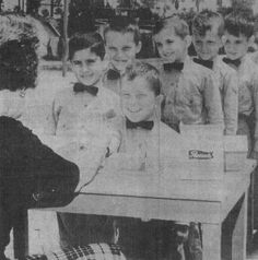 """Did you know that the building that currently holds Junior Blind in Windsor Hills was once the California Military Academy?  Here are a few of the academy residents in the 1960's at their """"Candy Call"""" before the academy closed.  Learn more about the history of Junior Blind by viewing our scrapbook at http://www.juniorblind.org/50years. (Photo: Van Nuys Valley News, August 20, 1964)"""