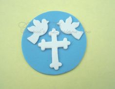 Edible Cupcake Topper Fondant First Comunion by thesweetshop911, $10.99