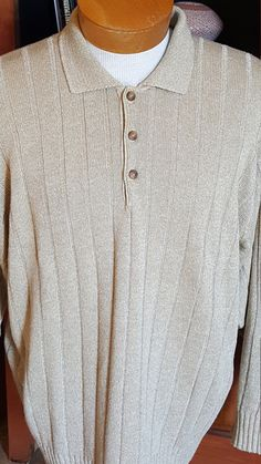 Men's Sweater Shirt Clan Douglas Linen Silk Made in Scotland L Designer by FeedingHearts on Etsy