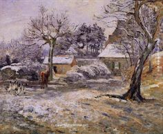 Camille Pissarro Snow at Montfoucault, 1874 painting online, painting Authorized official website