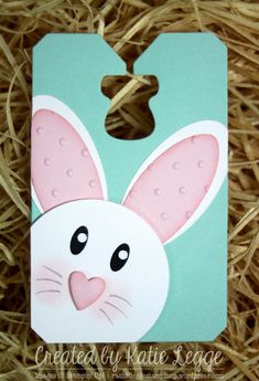 Easter Bunny Punch Art Tag
